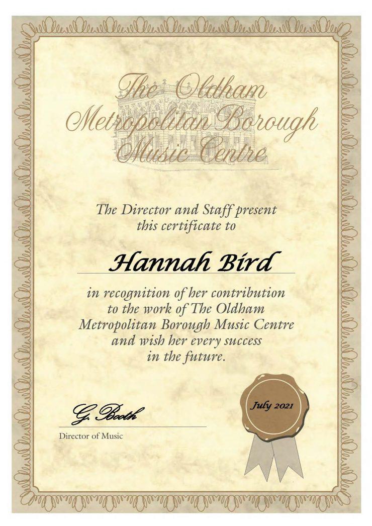 Hannah Bird - Viola