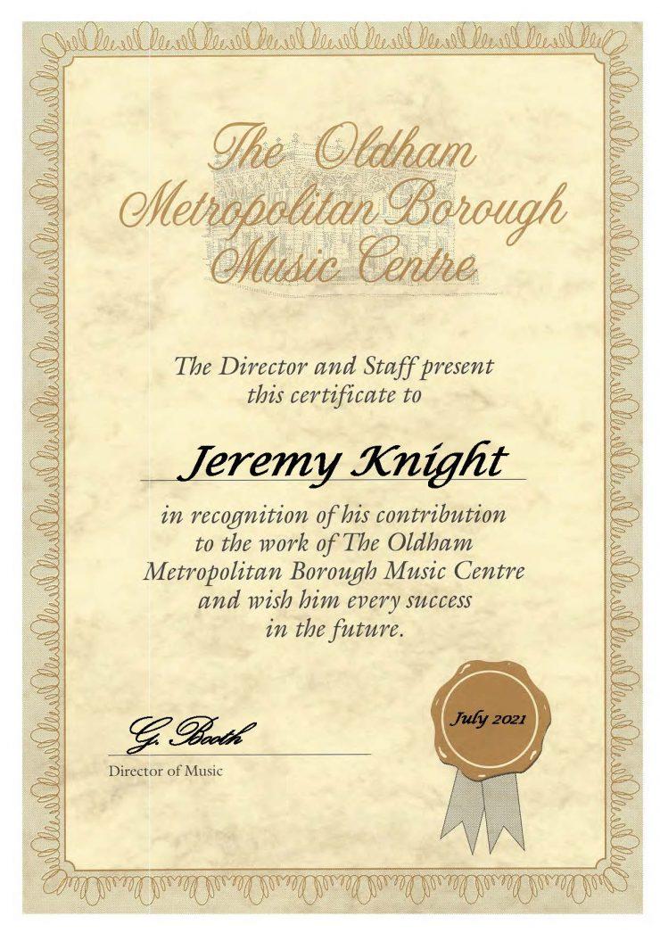 Jeremy Knight - Cornet